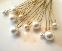 wedding photo - Set of Pearl Wedding hair pin Pearl Bridal hair pin Pearl hair pin Pearl Wedding hair.