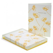 wedding photo - Buttercup Letterpress Thank You Cards - Set of 6 / Thank You Note Cards