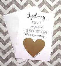 wedding photo - Will You Be My Bridesmaid Card, Wedding Card, Bridesmaid Proposal