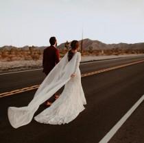wedding photo - silk bridal cape, wedding cape, cape veil, silk cape, silk wedding cape, ivory bridal cape, ivory cape, shoulder cape - MARION