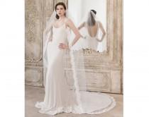 wedding photo - Semi edge Lace Wedding Veil, Lace Veil, Floor length veil, Chapel length veil, Cathedral length, Wedding Dresses, Lace Bridal Veil