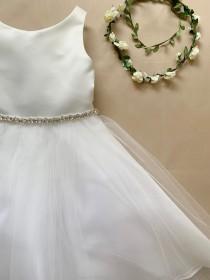 wedding photo - Dainty Rhinestone Flower Girl Dress