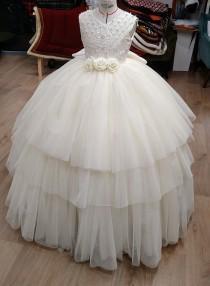 wedding photo - Mini Princess - Ivory - 9/12 years