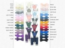 wedding photo - Groomsmen Bow Tie and Suspenders 50 colors