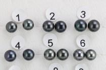 wedding photo - Tahitian pearl earring studs,Natural peacock black color south sea pearl earrings,skin with imperfections and circles