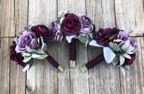 wedding photo - Plum Bouquet, Bridesmaid Bouquet, Purple Bouquet, Lavender Bouquet