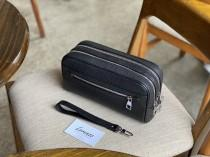 wedding photo - Personalized leather dopp kit for men, leather toiletry bag, groomsmen gift, mens dopp kit personalized mens toiletry bag large letters