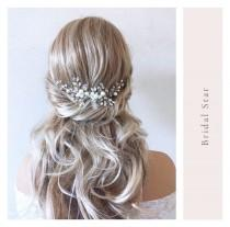 wedding photo - Wedding hair piece,hair vine,Bridal hair comb, wedding hair comb, bridal hair pins, bridal hair combs, bridal hair piece, crystal hair combs