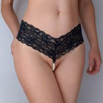 wedding photo - Sexy crotchless panties with pearls, bachelorette gift, Sexy gift for her, crotchless panties