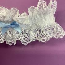 wedding photo - Wedding Garter, Nottingham Lace , brides garter white , Ivory or cream
