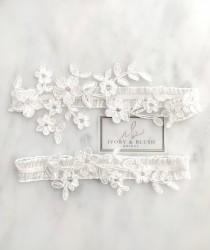 wedding photo - LIGHT IVORY Wedding Garter - Garter Wedding Garter Set Bridal Garter Set for Wedding Garters Ivory Garters for Wedding - Style #F0121