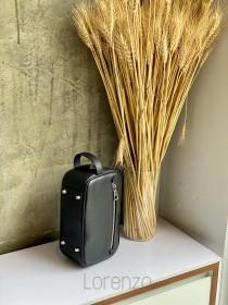 wedding photo - Personalised Buffalo Leather Large Wash Bag,Personalized Leather Washbag,Toiletry Bag - Custom Travel Bag, Men's Wash Bag,Dopp Kit Bag_0005