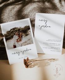 wedding photo - Minimalist Wedding Invitation Template