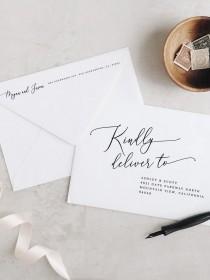 wedding photo - Printable Envelope Address Template Modern Calligraphy Wedding Envelope Address PDF Editable Address Templett Addressing Template DIY