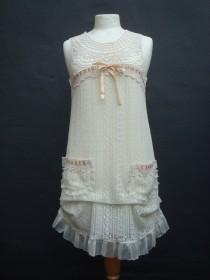 wedding photo - Short Wedding Dress, Ivory Cream Wedding Dress,  Woodland Fairy Wedding, Mori Girl Dress, Recycled Eco Fashion, UK Europe