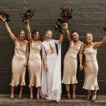 wedding photo - Satin bridesmaid dress, wedding dress, bridesmaid dresses, custom dress, long dress