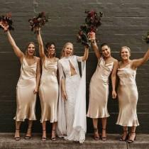 wedding photo - Satin bridesmaid dress, wedding dress, bridesmaid dresses, custom dress, long dress