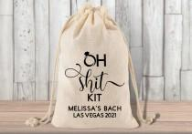 wedding photo - Hangover Kit Bag - Personalized Bachelorette Party  Favors - Oh Shit Kit
