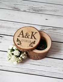 wedding photo - Rustic Ring Box Ring Bearer Pillow Custom Ring Box Engagement Ring Box Proposal Ring Box Wedding Rings Holder Ring Pillow Gift For Couple