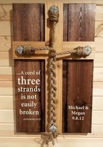 wedding photo - Wedding Unity Ceremony - Braid w/Ecclesiastes 4:12 scripture with personalized Names/Date