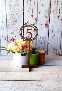 wedding photo - Wedding Table Numbers on Stand Stick Wooden Table Numbers Wedding Numbers Freestanding Numbers Wedding Table Sign Wedding Sign Table Signage