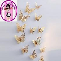 wedding photo - 2 styles of Butterflies for decorations on cakes breakables and more pack of 12   3 different sizes in each package 2 styles to choose from