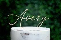 wedding photo - Wood Name Cake Topper, Custom Cake Topper, Birthday Cake Topper, Personalized Name Cake Topper, Baby Shower Cake Topper, Baby Name