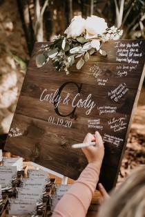 wedding photo - Wedding Guest Book Sign, Monogram Guestbook, Guest Book, Wooden Guest Sign, Wedding Decor, Wedding Ceremony Sign, Graduation Guest book