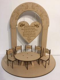 wedding photo - Loved Ones in Heaven Wedding Memory Table 3D Centrepiece with Hanging Sign & Personalised Chairs Centre Piece