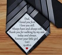 wedding photo - Wedding Dad Tie patch, Suit Label, Personalized Tie Patch, Father of the Groom, Thank You Dad Label, best man, stepdad, iron on tie patch
