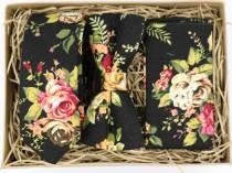 wedding photo - ROSE: Ties for Men, Groomsmen Gift, Boyfriend Gift, Husband Gift, Wedding Dress, Wedding Attire Mens, Floral Tie, Floral Pocket Square