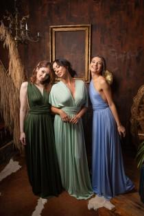 wedding photo - Infinity Dress With Bandeau, Convertible Dress, Bridesmaid Dress, Long  Dress Plus Size, Multi-way Dress,  Wrap Dress