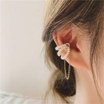 wedding photo - Pearl Ear Cuff No Piercing Delicate Fresh Pearl Magnetic - 18KGold Fake Piercing Hot Trend