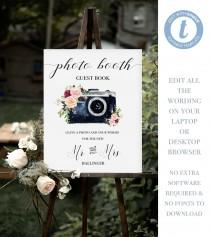 wedding photo - Editable Wedding Photo Booth Sign