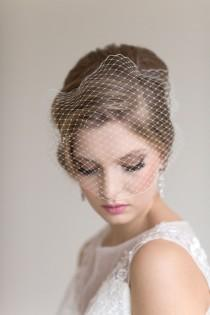 wedding photo - Birdcage Wedding Veil, Wedding Birdcage Veil, Bandeau Veil, Bridal Veil, Net Veil, Wedding Veil