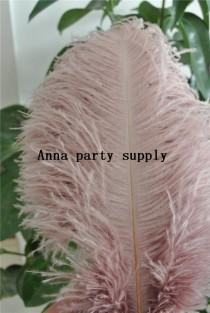 wedding photo - 50 pcs blush pink ostrich feather plume for wedding party supply decor wedding centerpiece
