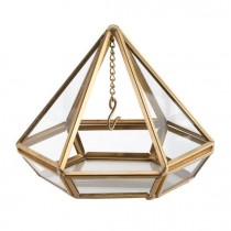 wedding photo - The door rings terrarium prism gold or copper