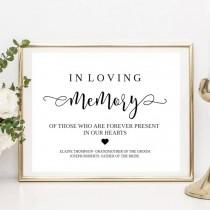 wedding photo - Loving Memory Sign, Memorial Sign, Wedding Memory Sign, In Loving Memory, Memory Sign, Loved Ones Sign, Memorial Printable, Wedding Memorial