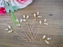 wedding photo - Crystal Hair pins Bridal hair pins Crystal Wedding hair pins Gold Bridal hair pins Silver Wedding hair pins Bridesmaids hair pins Crystal