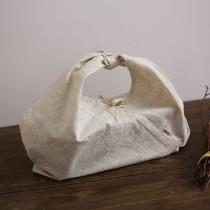 wedding photo - 100 pieces Personalize LOGO rectangular base lunch bent box cotton linen bag wedding favor gift packaging reusable bag- xyhk48