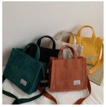 wedding photo - Corduroy Bag, Canvas Bag, Casual Crossbody Bag, Corduroy Handbag, Messenger Bag, Tote Bag, Women Bag, Gift For Her, 5 Colors Shoulder Bag