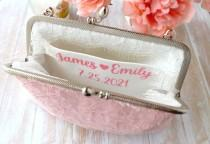 wedding photo - Personalize Bridal Clutch with message - ADD ON ONLY - Personalized wedding purse - Mother of the bride gift for bride