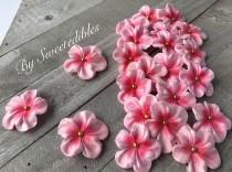 wedding photo - Fondant Edilbe Cake Decorations Light Pink Gum Paste Blossoms 25 piece