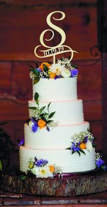 wedding photo - Wedding Cake Topper S cake topper Wedding cake topper S Cake toppers for wedding Initial cake topper wood monogram cake topper ructic topper