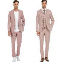 wedding photo - Porto Filo 2-piece & 3-piece men's dusty rose slim fit suit