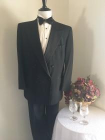 wedding photo - Men's Black Tuxedo, Size 44R