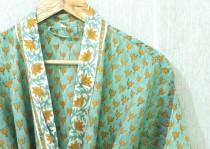 wedding photo - 100% Cotton kimono Robes, Pure cotton Kimono, Cotton Kimono, Festival Clothing, Kimono Kaftan, Oriental Kimono, Women's robes # 544