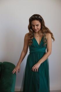 wedding photo - Emerald Green infinity dress, Emerald Green Bridesmaid dress, Emerald convertible dress, multiway dress, Emerald bridesmaid dress