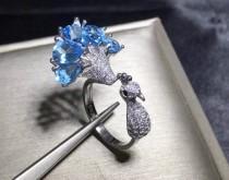 wedding photo - Blue topaz ring, Pear cut ring, Natural Blue Topaz,London blue topaz ring,925 Sterling Silver,Handmade ring,Engagement Ring