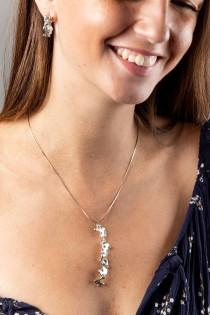 wedding photo - Mothers day gift silver wedding necklace silver seahorse pendant long seahorse pendant long watermark pendant